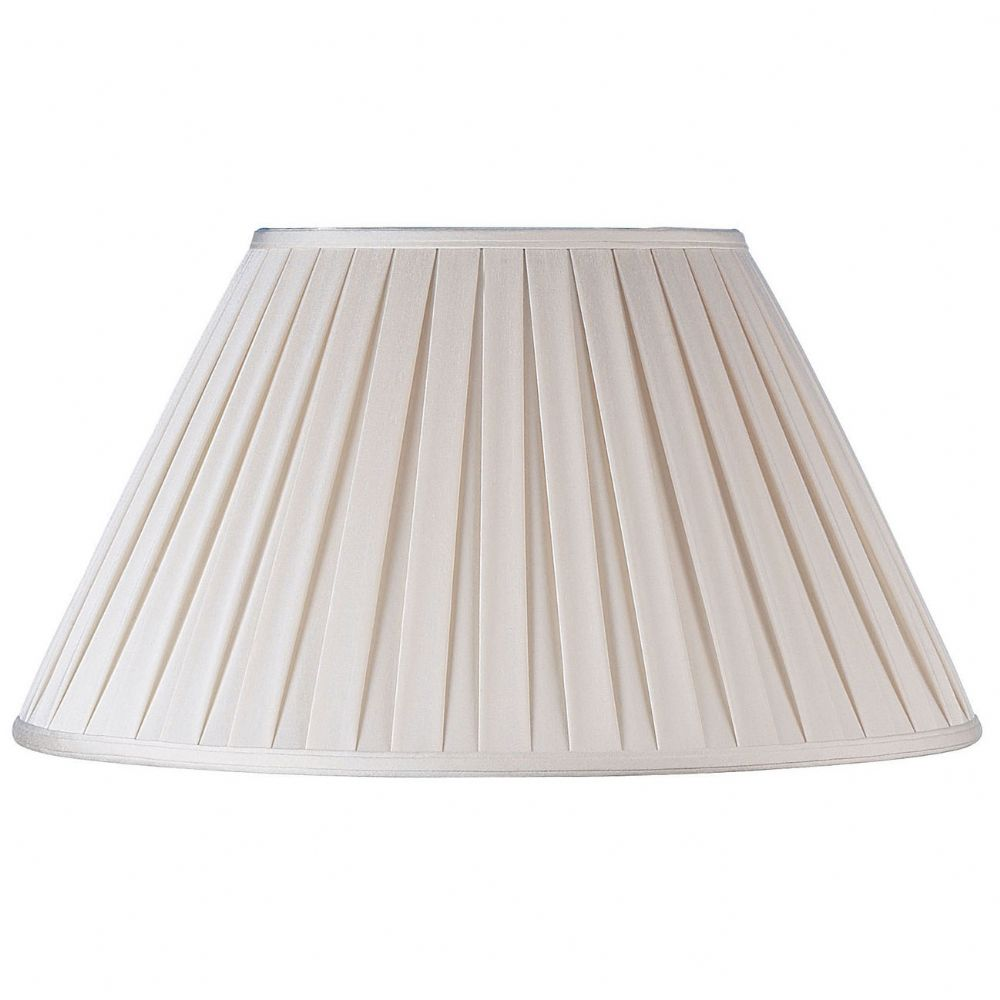 "12"" Beige Box Pleat Shade CARLA-12"